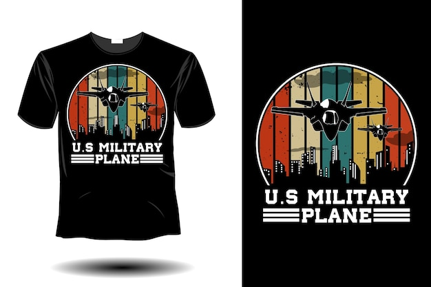 Conception vintage rétro de maquette d'avion militaire américain