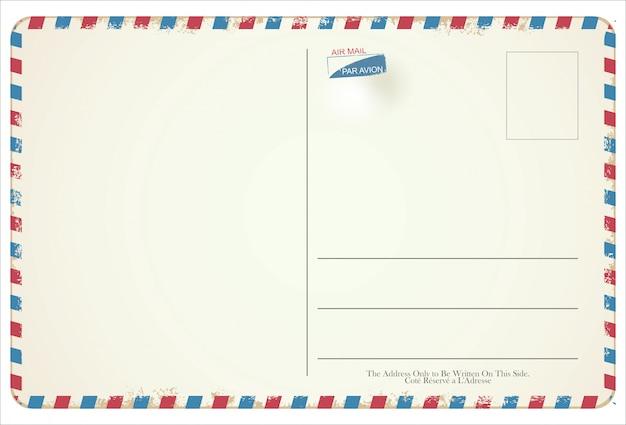 Conception vintage rétro de vecteur de carte postale