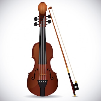 Conception de violon.