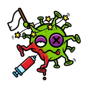 Conception de virus battu et abandonné