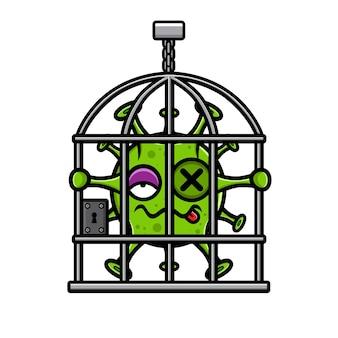 Conception de virus enfermée dans des cages à oiseaux