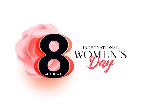 Conception de voeux belle journée des femmes