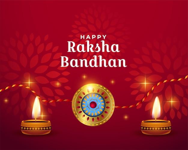 Conception de voeux brillant rouge heureux raksha bandhan