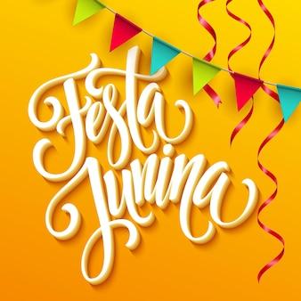 Conception de voeux de fête festa junina.