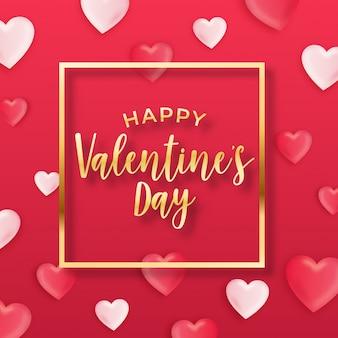 Conception De Voeux Saint Valentin Vecteur Premium
