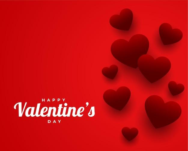 Conception de voeux de thème rouge saint valentin