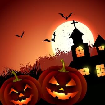 Conception de voeux de vacances halloween effrayant