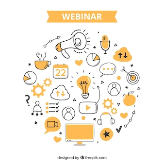 Conception de webinaire orange