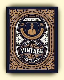 Conception de whisky pour carte et emballage