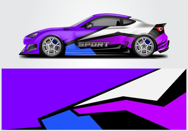 Conception de wrap de voiture de sport