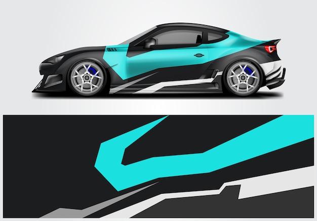 Conception de wrap de voiture de sport