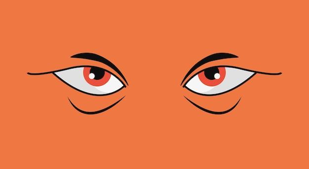 Conception des yeux en colère