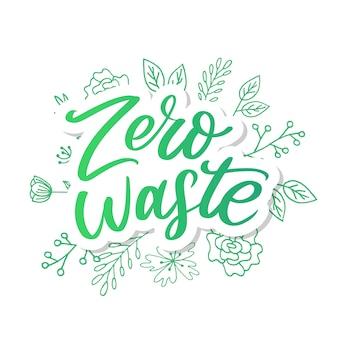Conception de zéro déchet texte de lettrage green eco ecology