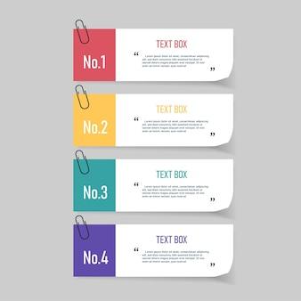 Conception de zone de texte avec des papiers à lettres.