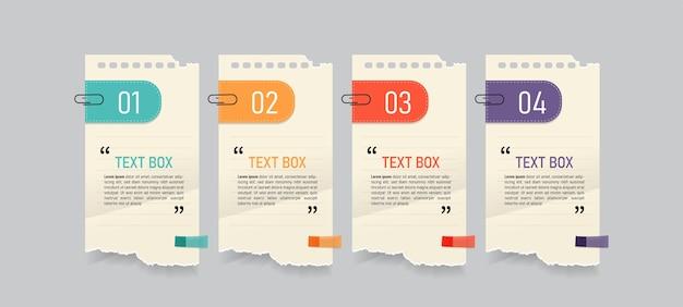 Conception de zone de texte avec des papiers à lettres