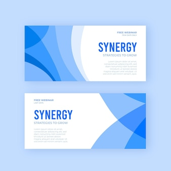 Conceptions de bannières commerciales synergy