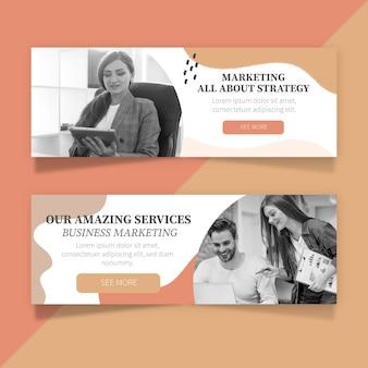 Conceptions de bannières de marketing d'entreprise