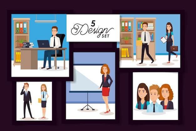 Conceptions de gens d'affaires sur le lieu de travail