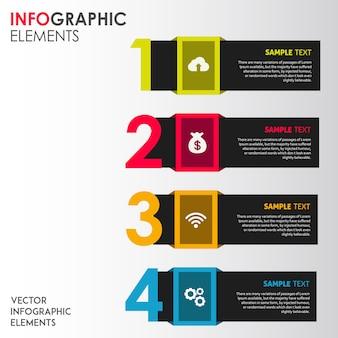 Conceptions infographiques de vecteur coloré