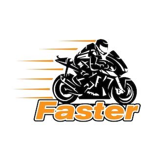 Conceptions de logo de coureur rapide