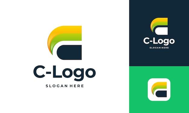 Conceptions de logo d'entreprise lettre c, logo initial c moderne