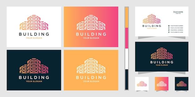 Conceptions de logo immobilier et carte de visite