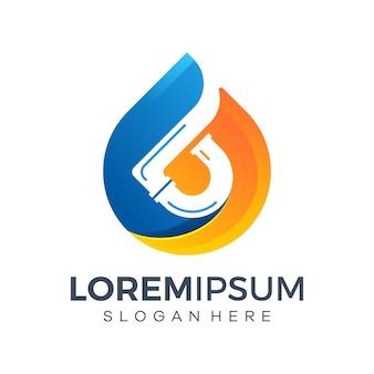 Conceptions de logo de plomberie d'eau