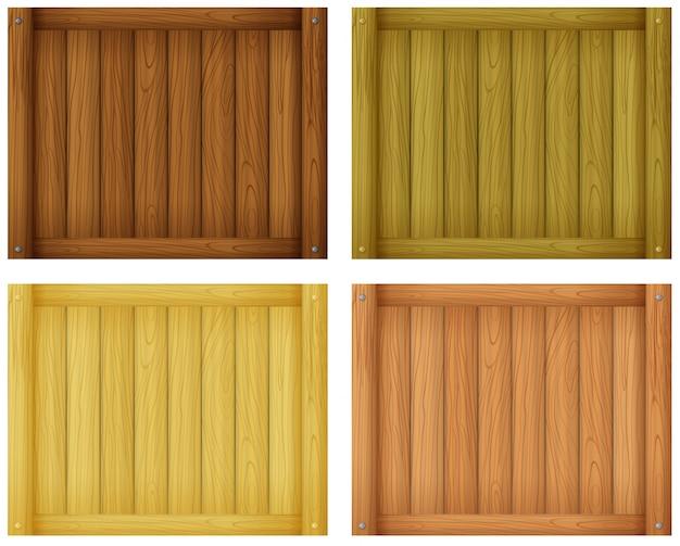 Conceptions de tuiles en bois