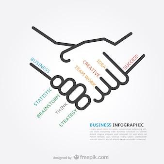 Concepts d'affaires infographiques