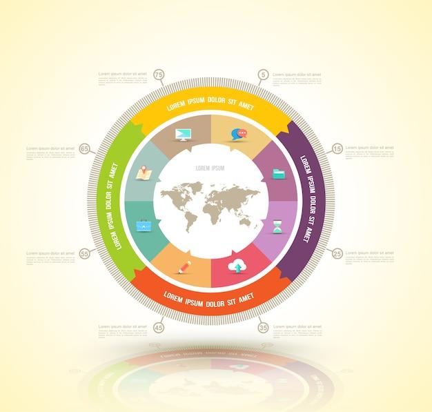 Concepts d'affaires vecteur cercle