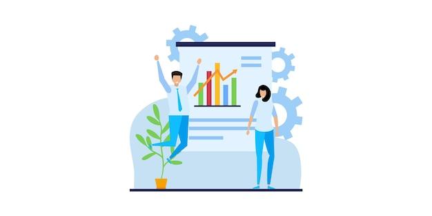 Concepts commerciaux des entrepreneurs. concepts pour la conception de sites web. génération d'idées créatives, team building, gestion de la productivité