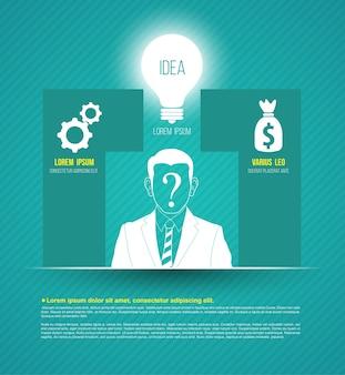 Concepts d'entreprise de vecteur avec des icônes