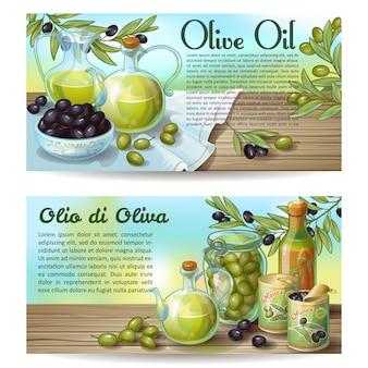 Concepts horizontaux de l'huile d'olive