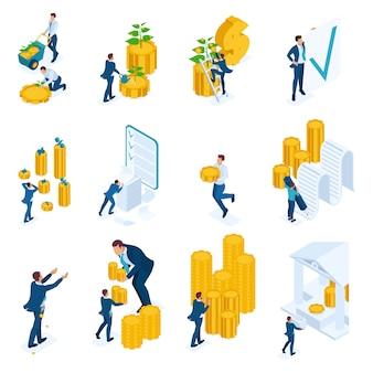 Concepts isométriques d'investissement, prêts bancaires, hypothèque.
