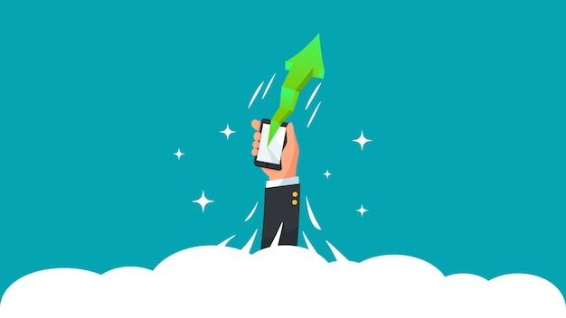 Concepts de réussite succès croissance entreprise