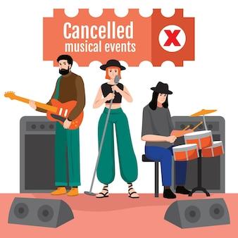 Concert musical annulé