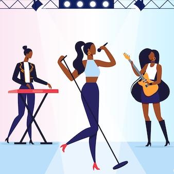 Concert de musique pop rock