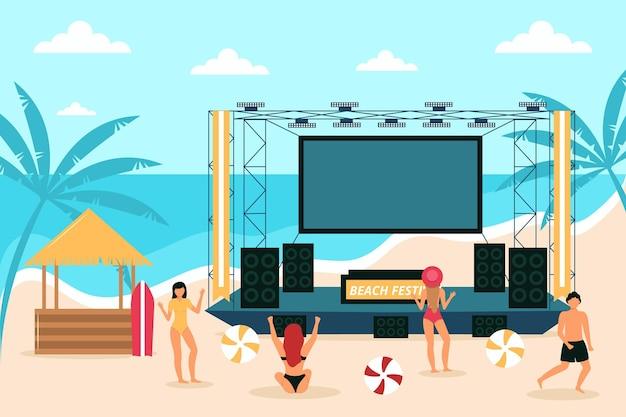 Concert en plein air à la plage