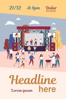 Concert de rock en plein air et festival gastronomique