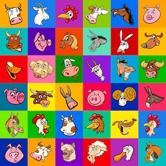 Concevoir avec des animaux de la ferme de dessin animé