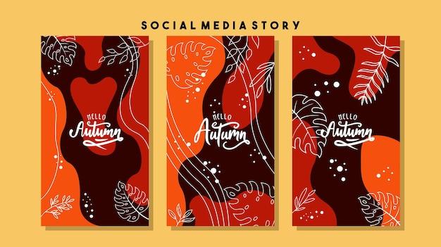 Concevoir des arrière-plans pour la bannière de médias sociaux ensemble de modèles de cadre de publication de médias sociaux