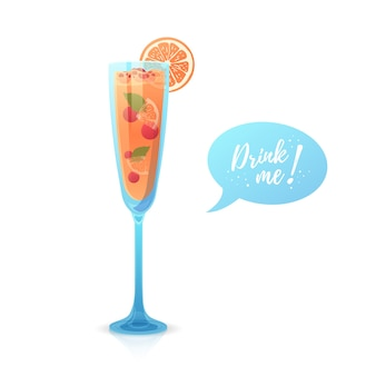 Concevoir une bannière avec un cocktail de noël drink me