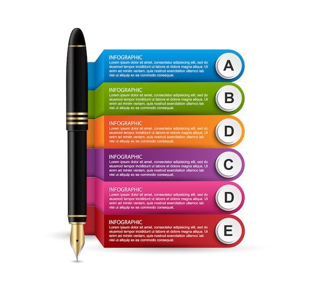 Concevoir des infographies avec un stylo à encre