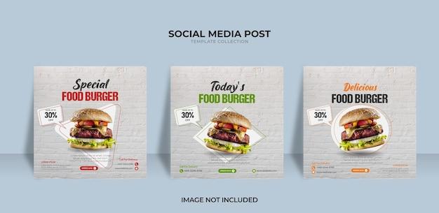 Concevoir un modèle de bannière de nourriture pour le menu post instagram