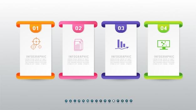 Concevoir quatre options d'élément graphique infographique.
