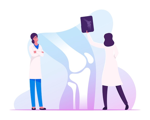 Concilium médical, concept de soins de santé. illustration plate de dessin animé