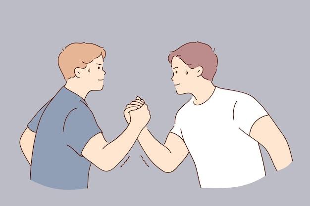 Concours de bras de fer du concept de force