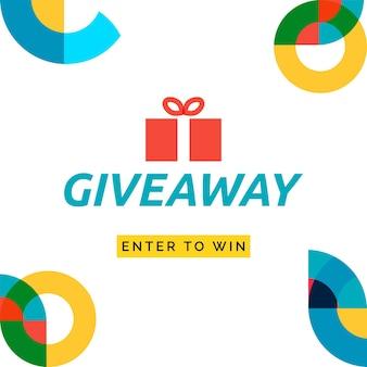 Concours cadeau participez pour gagner un modèle de bannière