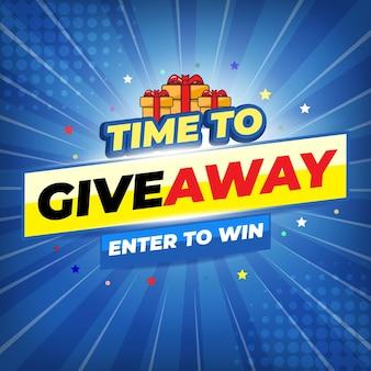 Concours de cadeaux pour le flux des médias sociaux. modèle giveaway concours gagnant du prix suivez les étapes ci-dessous