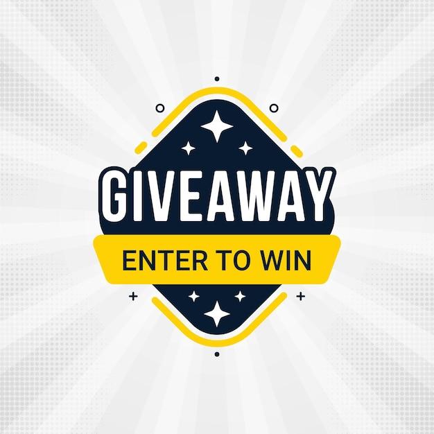 Concours et participez pour gagner un modèle de conception de bannière